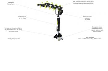 BUFFALO 4 – TOW BALL – 2 ARMS BIKE CARRIER