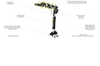 BUFFALO 4 – TOW BALL – 2 ARMS BIKE CARRIER