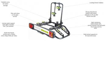 BUZZCRUISER 2 – TOW BALL – PLATFORM BIKE CARRIER