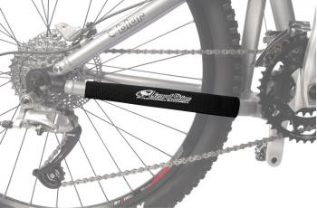Ride your bike without the noise hindrance of chain slap. The Chainstay Protector is made to fit most aluminium bike frames and reduces the noise from chain slap while protecting the frame from nicks and scratches.  Tightly stitched with heavy-duty thread